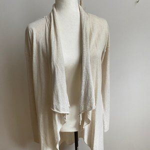 Tahari BNWT beige sweater cardigan sz Large wool